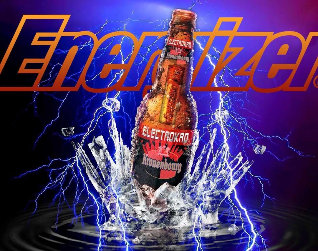 """Kronenbourg et Energizer sortent la première """"Bouteille de bière électronique"""""""