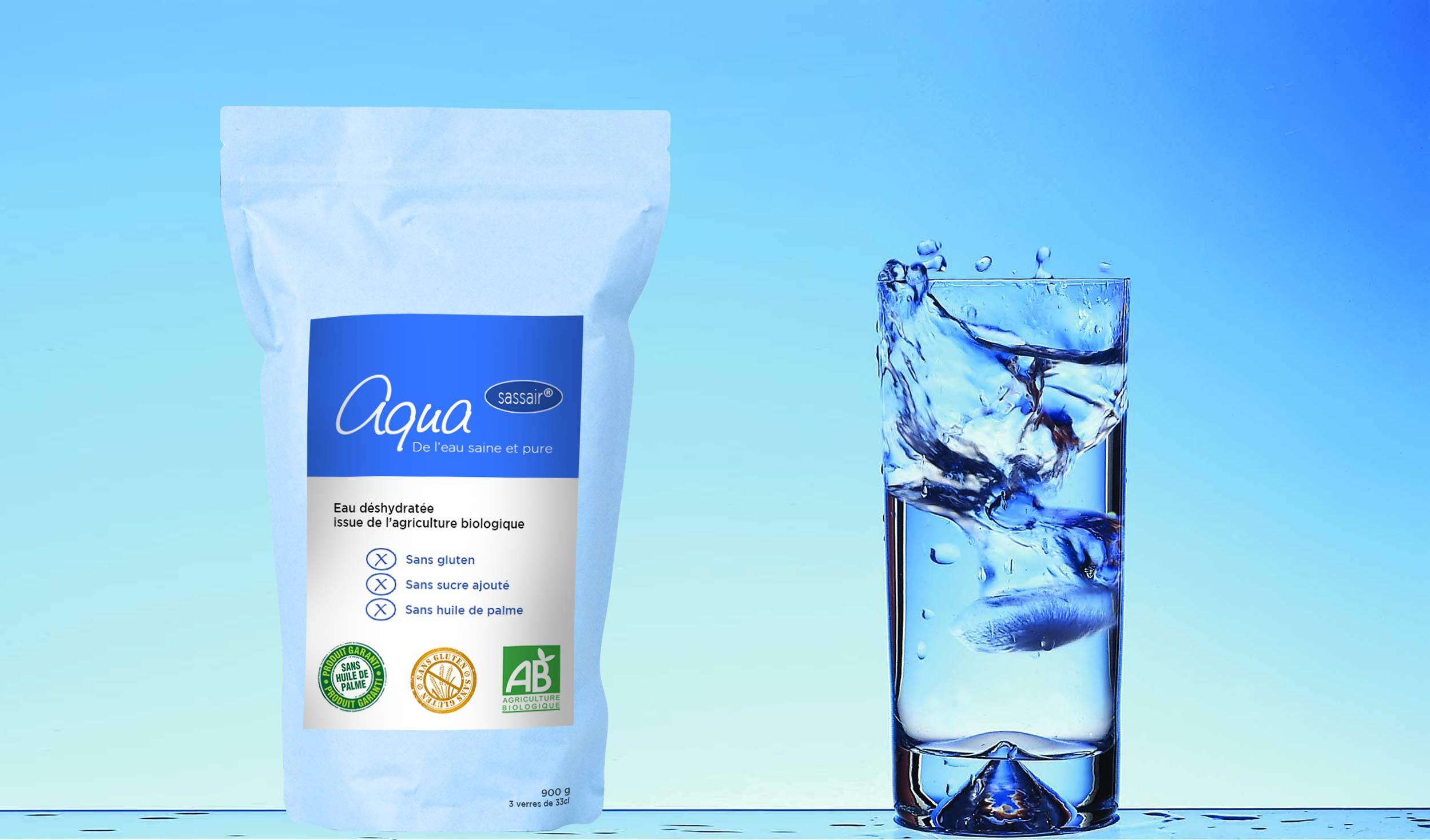 Aqua (Sassair ©) - La nouvelle eau en poudre